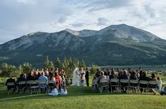 Summer wedding at the Crested Butte Country Club with Whetstone Mountain as the breathtaking backdrop Photo by Alison White Photography