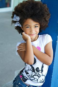 Her fro is adorable! #naturalhair