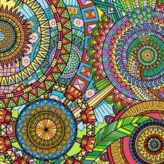Coloring Book Art, Coloring Apps, Colouring Pics, Mandala Coloring, Adult Coloring, Wall Texture Patterns, Textures Patterns, Print Patterns, Mandala Art