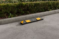 The R-2003 parking stop increases parking lot safety by preventing vehicle intrusion onto curbs, pedestrian zones, gardens, and other sensitive areas. Parking stop placement encourages safer, more predictable driving. To learn more, visit: http://www.reliance-foundry.com/traffic-safety-supplies/parking-stops/r-2003-parking-stop