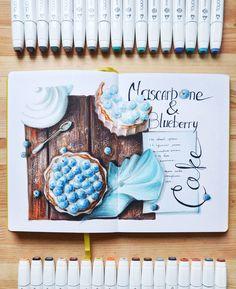Art Sketches Ideas - christmas cake) черничный пирог с маскарпоне) жаль,. Marker Kunst, Copic Marker Art, Sketch Markers, Beautiful Drawings, Cute Drawings, Drawing Sketches, Sketching, Kunstjournal Inspiration, Art Journal Inspiration