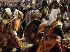 Ottoman Janissaries charging during the Siege of Constantinople