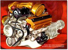 The original Chrysler Hemi engines: creation of the double rocker dynamos Hemi Engine, Gasoline Engine, Car Engine, Plymouth Muscle Cars, Dodge Muscle Cars, Chrysler Hemi, Performance Engines, Classic Motors, Custom Trucks
