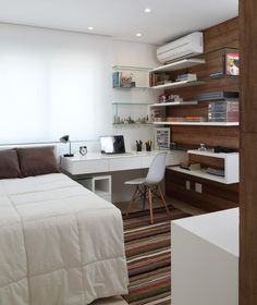 Top small bedroom office design ideas xn innerned intended modern home . small office with murphy Home Bedroom, Bedroom Decor, Bedroom Ideas, Modern Bedroom, Bedrooms, Decor Room, Design Bedroom, Small Room Design, Small Spaces