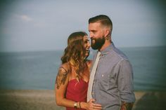 Bright & Bold Bohemian  Engagement Shoot - Couple in love