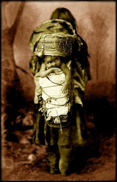 Chiricahua Apache child in Native Dress with Infant in Cradleboard. Photographed: 1882. - National Anthropological Archives, Smithsonian Institution. ~ Repinned via Aedyn Callahan