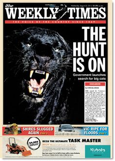 """The Weekly Times confirms that Ted Baillieu is making good on his pledge to """"investigate"""" panther sightings"""
