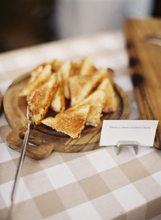 Mini grilled cheese | Photography: Jessica Burke - jessicaburke.com  Read More: http://www.stylemepretty.com/living/2014/10/01/preppy-rehearsal-dinner/
