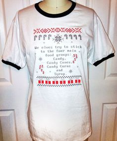 So funny!!! ELF Ringer T by BoNkAtique on Etsy