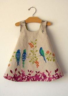 Pretty little ladies know how to dress. bird dress.