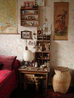 Vintage interiors: The taste of Petrol and Porcelain | Interior design, Vintage Sets and Unique Pieces www.petrolandporcelain.com