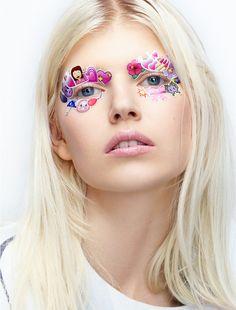Sticker eyes - Ola Rudnicka by Daniel Sannwald for Antidote Spring/Summer 2015