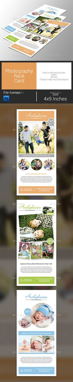 Photography Marketing Card Template - Promo Card Postcard Template - rack card template