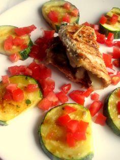 Schab z suszonymi pomidorami i serem mozzarella