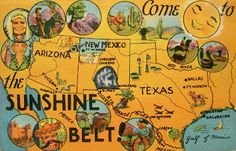 Vintage postcard - the sunshine belt