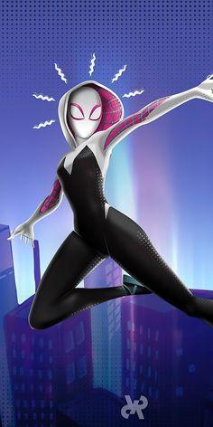 Marvel Women, Marvel Girls, Marvel Art, Marvel Dc Comics, Marvel Avengers, Marvel Phone Wallpaper, Marvel Spider Gwen, Spiderman Drawing, Spider Girl