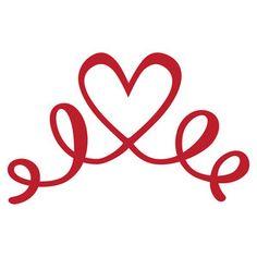 Silhouette Design Store - View Design #170278: swirly heart