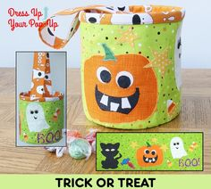 TRICK OR TREAT A Dress Up Your Pop-Up Kit.   #popup #dressitup #sew #halloween #trickortreat