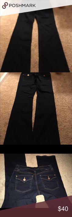 INC jeans Dark denim boot leg curvy fit INC jeans. 93 % cotton/6% polyester/1% spandex. Size 4. INC Jeans Boot Cut