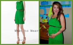 """Pin Fifteen: What to Wear ~ What to Wear: Zara dress vs Old Navy dress while 5 months pregnant trying to fulfill the """"neon"""" challenge..."""