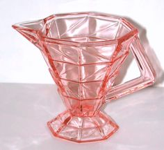 Indiana Glass Cracked Ice creamer in pink