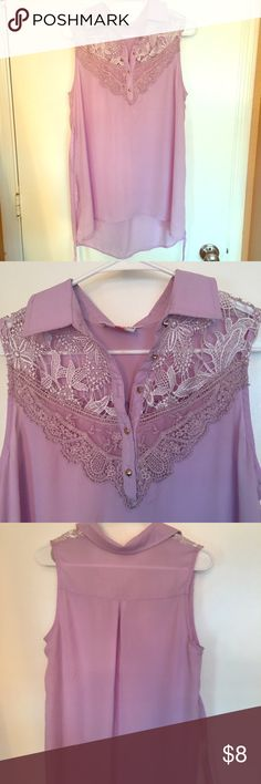 Lilac crochet maternity shirt So comfy, I wore (not pregnant) but as a long shirt over some leggings. Only worn once. Like new! Tops Tunics