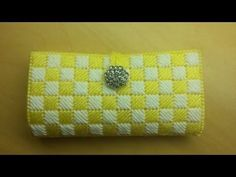 How to - Plastic Canvas Clutch Wallet w/ Plastic Canvas - Bag-O-Day Crochet Tutorial Plastic Canvas Stitches, Plastic Canvas Coasters, Plastic Canvas Ornaments, Plastic Canvas Christmas, Plastic Canvas Crafts, Plastic Canvas Patterns, Canvas Purse, Canvas Wallet, Granny Stripes