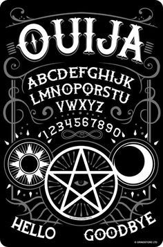 Ouija Board D4 Medical Glass Jar 3 X 2 Herb /& Spices Talking Spirit Occult Witchcraft Spooky