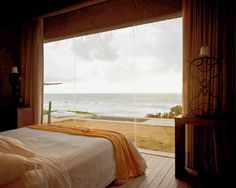 Wake up to this incredible view of the beach when you stay at the Barra de Sao Miguel hotel in  Brazil.