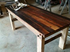 Douglas fir   barnwood table