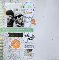 Layout, trip to New York, Studio Calico Mixed Media Scrapbooking, Scrapbooking Layouts, Scrapbook Sketches, Scrapbook Pages, Ny Life, Paper Crafts, Diy Crafts, One Fine Day, Photo Layouts