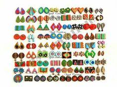 Terracotta Jewellery Making, Terracota Jewellery, Funky Jewelry, Jewelry Crafts, Handmade Jewelry, Doll House Crafts, Fashion Accessories, Fashion Jewelry, Silk Thread