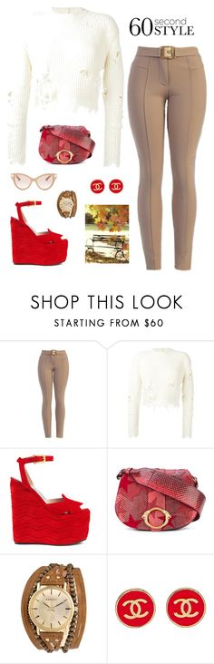 """""""Untitled #346"""" by maylamartha ❤ liked on Polyvore featuring adidas Originals, Gucci, Roberto Cavalli, Kahuna, Ann Taylor and Valentino"""