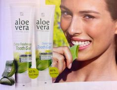 Toothpaste with aloe Vera