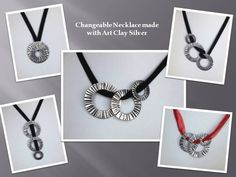Changeable necklace with Art Clay Silver!