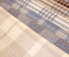 Holland & Sherry wool plaids fabric. Visit your nearest Ring's End design and decor showroom today for more information! #Holland&Sherry #Fabric #Wool #RingsEnd