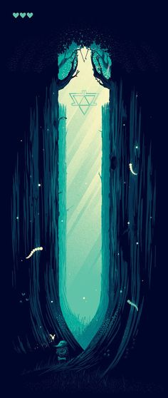 #GAMEART http://tinycartridge.com/post/95414261952/through-the-lost-woods-this-fangamer-attract