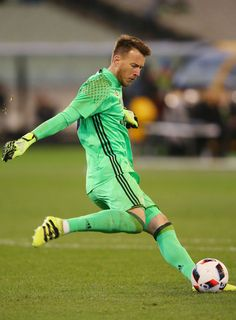 Neto of Juventus kicks the ball during the 2016 International Champions Cup match between Juventus FC and Tottenham Hotspur at Melbourne Cricket Ground on July 26, 2016 in Melbourne, Australia.