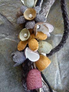 handmade silk cocoons jewelry No80b