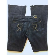 """Authentic Rock & Republic Roth dark wash flare Dark wash R&R Roth dark wash flare denim. Designed with embellished jewels. Hardly used, in excellent almost new condition.  Inseam 34"""". Made of 98% cotton and 2% Lycra. Rock & Republic Pants Boot Cut & Flare"""