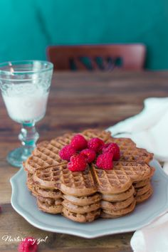 Gluten Free Chocolate Waffles-a yummy chocolatey and crispy breakfast that is out of this world! Free from gluten, dairy and Stevia sweetened.