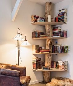 This bookcase is excellent.  via @knotandgrain #treehouseclub