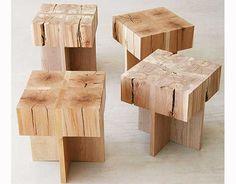 endgrain cross stool