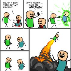 Cyanide and happiness with iPhones
