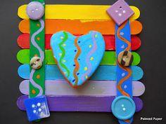 Crazy rainbow hearts crafts
