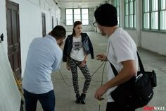Emma Watson - photoshoot backstage for Teen Vogue (2013).