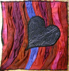 The Free Motion Quilting Project: Experiment #1 - Textured Applique and Trapplique