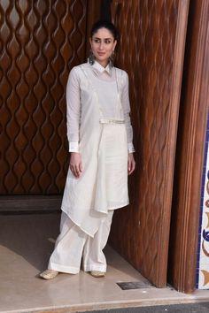 Veere Di 2018 Wedding media interactions at Sunny Sound juhu Pakistani Dress Design, Pakistani Dresses, Indian Dresses, Indian Outfits, Kurti Neck Designs, Kurti Designs Party Wear, Blouse Designs, Muslim Fashion, Indian Fashion