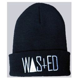 23c4f474fda Wasted Beanie wooly beenie hat comme des fuckdown by TIACCESSORIES