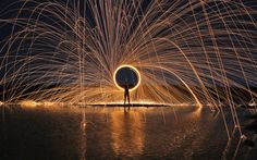 https://flic.kr/p/v8drem | Fire The Night | steel wool photography.